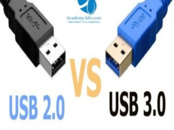 USB types 2.0 and 3.0